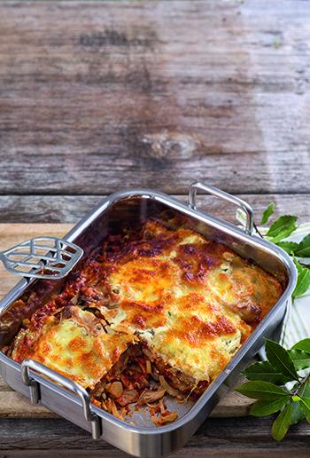 koestlich vegetarisch 5/15 - Aktionsrezept - Fenchel-Pilz-Lasagne